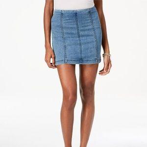 Free People Modern Femme Denim Skirt Indigo 4